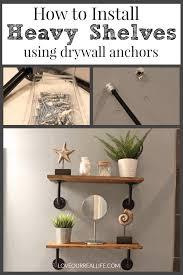 installing heavy duty shelves using dry