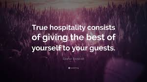 "Giving Of Yourself Quotes Best Of Eleanor Roosevelt Quote ""True Hospitality Consists Of Giving The"