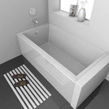 alcove soaking tub vana plain skirt 54 x 30 alcove soaking bathtub deep soaking bathtub home