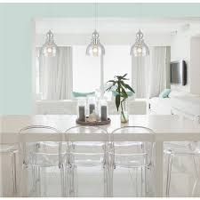 clear glass pendant lights. Westinghouse Industrial One-Light Adjustable Mini Pendant With Handblown Clear Seeded Glass, Brushed Nickel Finish - 2 Pack Amazon.com Glass Lights