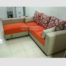 sofa l minimalis murah motif orangegrey terlaris