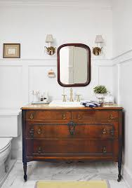 antique furniture style bathroom vanity. even diy skeptics will be inspired by this cape cod home makeover. bathroom vanity with sinkvintage antique furniture style