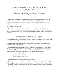 Business Letter Formats Best Resumes