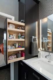 modern bathroom storage. Wall-mirror-and-bathroom-lighting-plus-wallpaper-and- Modern Bathroom Storage