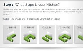 looking for a ballpark estimate step 1 what shape is your kitchen select