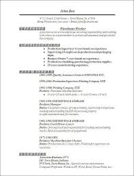 Warehouseman Resume | Madebyrichard.co