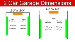 standard garage dimensions garage sizes