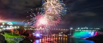 Niagara Falls Holiday Lights Fireworks Over The Falls Winter Festival Of Lights