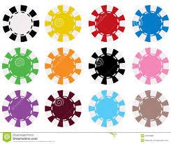 Light Blue Poker Chips Vector Poker Chips In 12 Colors Stock Vector Illustration