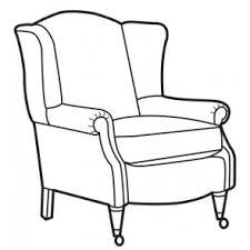 chair drawing. pin drawn chair armchair #14 drawing e