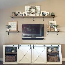 tv on wall decor. 19 diy entertainment center ideas. wall decor above tvshelf tv on w