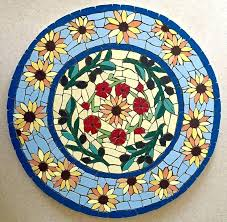round mosaic table mosaic table ready for grouting mosaic ideas table tops