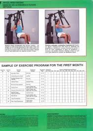 York 2600 Mega Gym And Exercise Chart York Mega Max 3001 Gym Workout Chart Gym Workout Chart