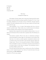essay in mla format template this image shows the first page of an mla paper writing an essay