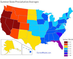 California Annual Rainfall Chart Summer Rainfall Averages For Each Usa State Current Results