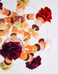 make a pajaki inspired paper chandelier