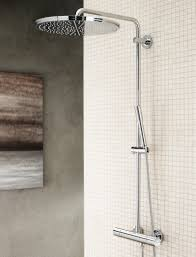 sophisticated stainless steel ceiling rain shower heads also marble wall tiles as well