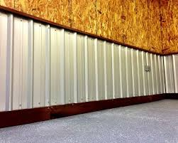 corrugated metal roofing used as