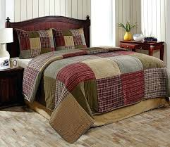 tan duvet covers king 3pc bryan country king size quilt set by olivias heartland green red
