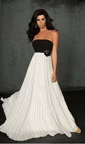 i like the contrast of black and white wedding dress with black