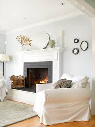 painted white brick fireplacePaint that old brick and revitalize your fireplace   Trinity