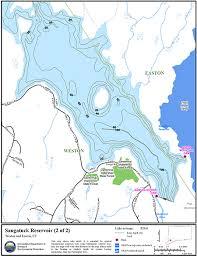 Wordens Pond Depth Chart Saugatuck Reservoir Map Northeastbass