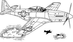 Small Picture P51 sky domination airplane coloring page Download Print