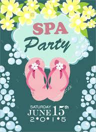 10 Spa Party Invitation Designs Templates Psd Ai