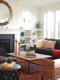 farmhouse living room with white walls ideas design photos houzz