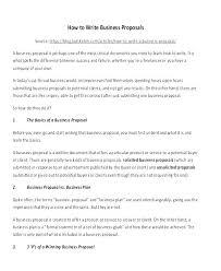 Sample Business Offer Letter Sample Business Proposal Letter Format