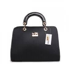 Coach Fashion Signature Medium Black Satchels BSG