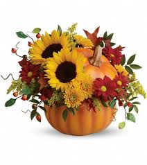 fayetteville nc florist home teleflora s pretty pumpkin bouquet flowers view larger