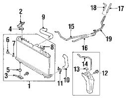 parts com® subaru impreza radiator components oem parts 2006 subaru impreza 2 5i h4 2 5 liter gas radiator components