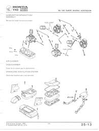 vf750c shop manual carburetor diagram see also 83 addendum carburetor separation assembly crankcase ventilation