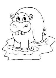 Small Picture Hippopotamus Pictures To Print Coloring Coloring Pages