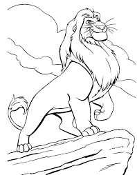 600x770 simba coloring page coloring pages minimalist coloring pages print
