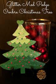 glitter mod podge ombre christmas tree