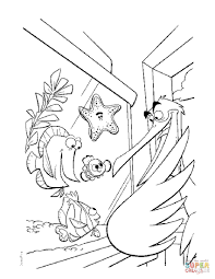 Finding Nemo Coloring Pages Free Nigel And Page Outstanding