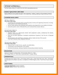 10 Line Cook Resume Examples Time Table Chart