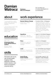 Resume with nice layout & easy to read font