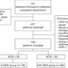 Flow Chart Of Study Dm Diabetes Mellitus Ckd Chronic