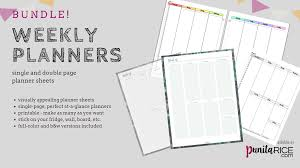 Weekly Planners Bundle Dr Punita Rice
