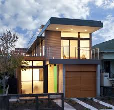 Contemporary House With Cool Wood Garage Door (Image 4 of 11)