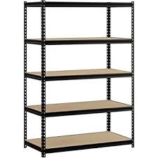 metal storage shelves. heavy duty garage shelf steel metal storage 5 level adjustable shelves unit 72\u0026quot; h x s