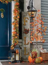 Outside Fall Decorating Ideas-Create an Exterior Entryway for Fall