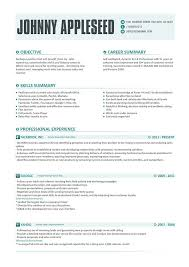 Contemporary Resume Templates New Resume Template Johnny Appleseed Modern Resume Template With