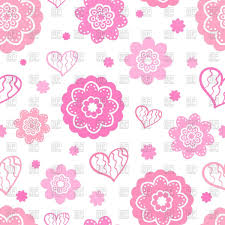 Pictures Of Hearts And Flowers Seamless Background With Flowers And Hearts Stock Vector Image