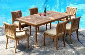 7 piece patio dining set. 7 Piece Grade A Teak Dining Set 94 Double Extension Rectangle Regarding Beautiful Patio