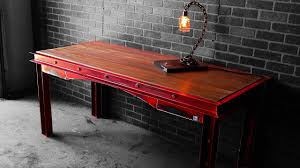 distressed industrial furniture. Distressed Industrial Desk | How-to Furniture E