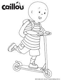 Tall Caillou Coloring Page Ready To Learn Sheet Best Free Coloring